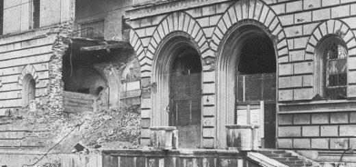 Eingangsbereich der Bayerischen Staatsbibliothek 1946