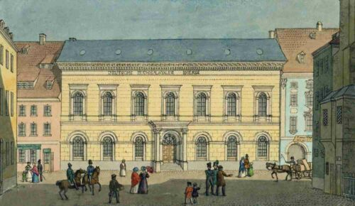 Die Buchhändlerbörse um 1840 – Sitz des Börsenvereins von 1836 bis 1888